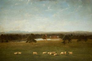 Anthony Devis - Tabley - The Old Hall From The Park
