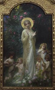 Ernest Hébert (Antoine Auguste Ernest Hebert) - The Virgin In Paradise