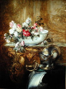 Antoine Vollon - Still Life Of A Bowl Of Flowers