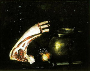 Antoine Vollon - Still Life With Cutlets