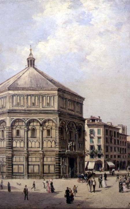 A View Of The Baptistry In Florence by Antonietta Brandeis (1849-1926, Czech Republic) | Art Reproduction | WahooArt.com
