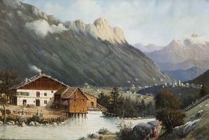 Buy Museum Art Reproductions | Berchtesgaden-bayern by Antonietta Brandeis (1849-1926, Czech Republic) | WahooArt.com