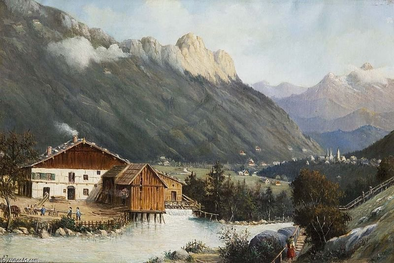 Berchtesgaden-bayern by Antonietta Brandeis (1849-1926, Czech Republic) | Famous Paintings Reproductions | WahooArt.com