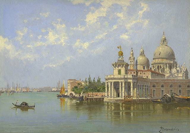 The Piazzetta, Venice by Antonietta Brandeis (1849-1926, Czech Republic) | Oil Painting | WahooArt.com