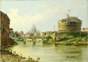 Antonietta Brandeis - The Tiber With The Castel Sant. Angelo