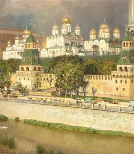 Apollinari Mikhailovich Vasnetsov - Cathedrals Of The Moscow Kremlin