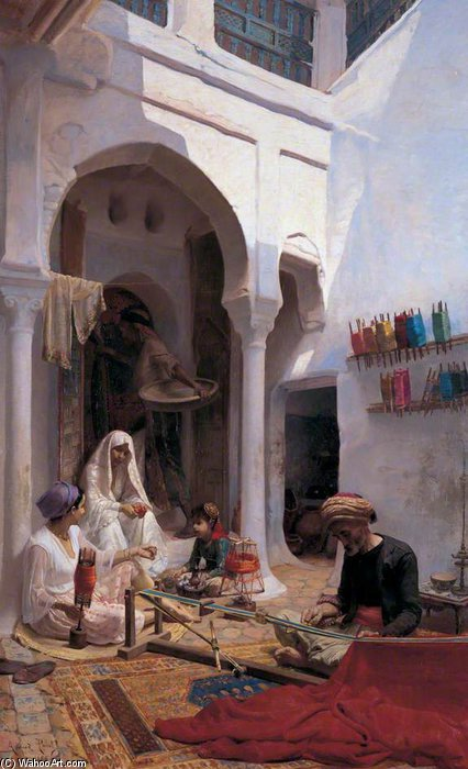 Order Museum Quality Copies | Arab Weaver by Armand Point (1860-1932, Algeria) | WahooArt.com