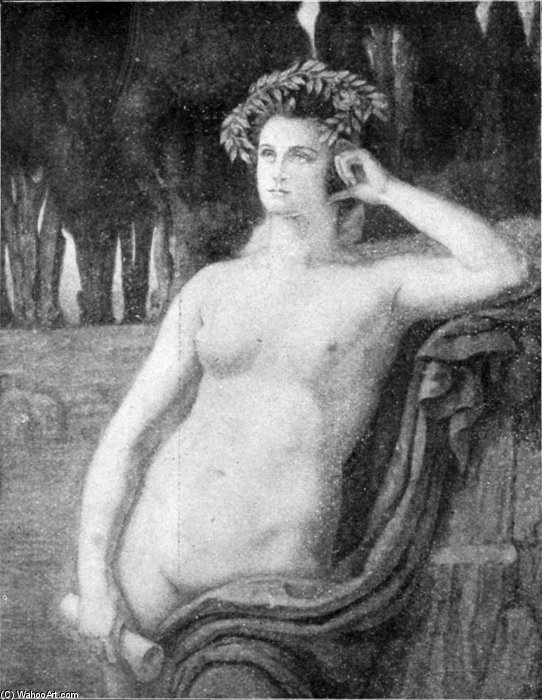 Une Muse by Armand Point (1860-1932, Algeria) | Paintings Reproductions Armand Point | WahooArt.com