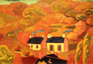 Armand Seguin - Two Thatched Cottages -