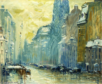 Order Art Reproduction : Fifth Avenue by Arthur Clifton Goodwin (1864-1929, United States) | WahooArt.com