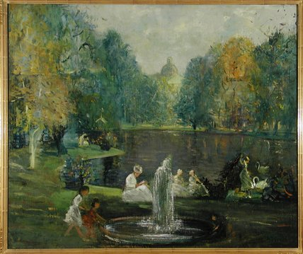 Frog Pond by Arthur Clifton Goodwin (1864-1929, United States) | WahooArt.com