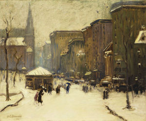 Arthur C. Goodwin - Park Street Church In Snow