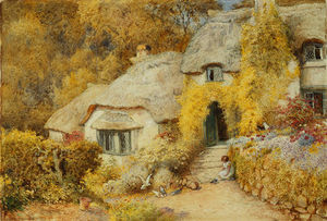 Arthur Claude Strachan - Cottages At Selworthy
