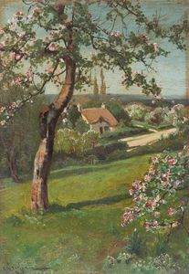 Arthur Walker Redgate - Cottage In Fields