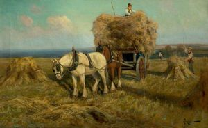 Arthur Walker Redgate - Loading The Harvest Wagon