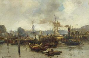 August Willem Van Voorden - Harbour Activities, Rotterdam