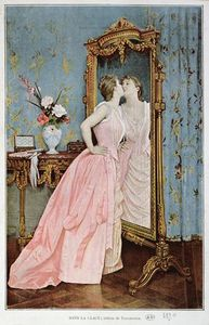 Auguste Toulmouche - In The Mirror