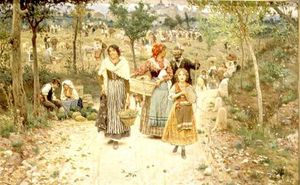 Aurelio Tiratelli - Returning From The Village Fete