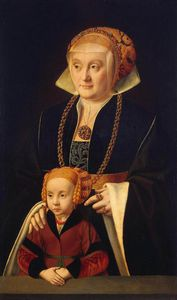Barthel Bruyn The Elder - Portrait Of A Woman With Her Daughter