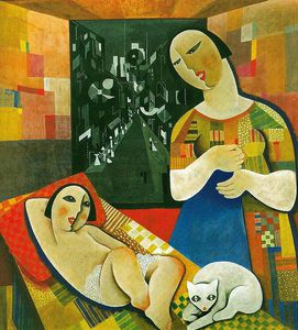 Bela Kadar - Mother With His Child