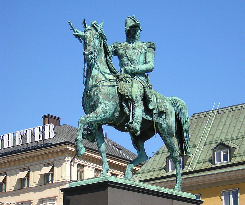 Order Art Reproduction : Statue Of Charles Xiv by Bengt Erland Fogelberg (1786-1854, Sweden) | WahooArt.com