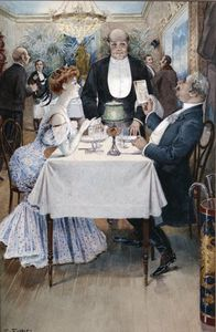 Benjamin Eugene Fichel - At The Restaurant