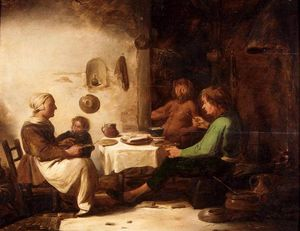 Benjamin Gerritsz Cuyp - The Satyr And The Peasant Family