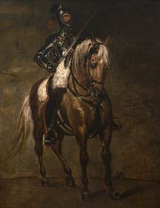 Benjamin Robert Haydon - Study Of A Man In Armour On Horseback