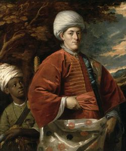 Benjamin Wilson - Portrait Of A Gentleman In Oriental Dress With An