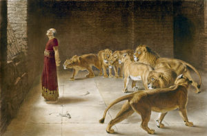 Briton Rivière - Daniel In The Lions Den