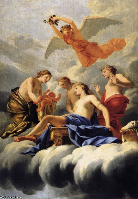 The Birth Of Cupid by Brother Lesueur (Eustache Le Sueur) (1616-1655, France)