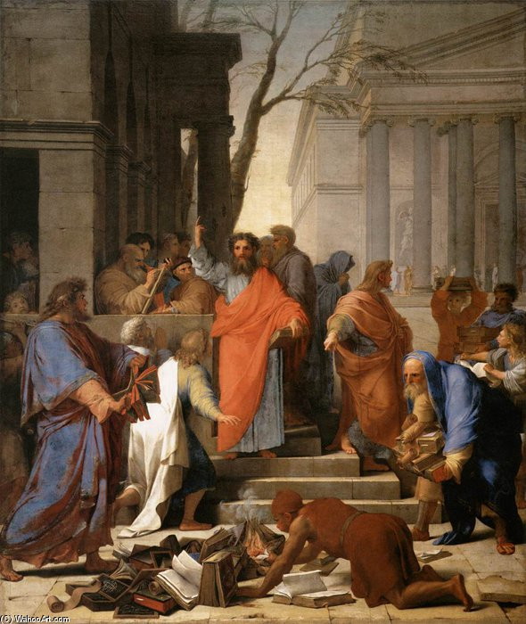 The Preaching Of St Paul At Ephesus by Brother Lesueur (Eustache Le Sueur) (1616-1655, France)