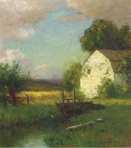 Robert Bruce Crane - A Barn In Summer