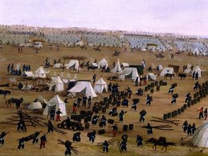Candido Lopez - Argentine Camp During War Against Paraguay -
