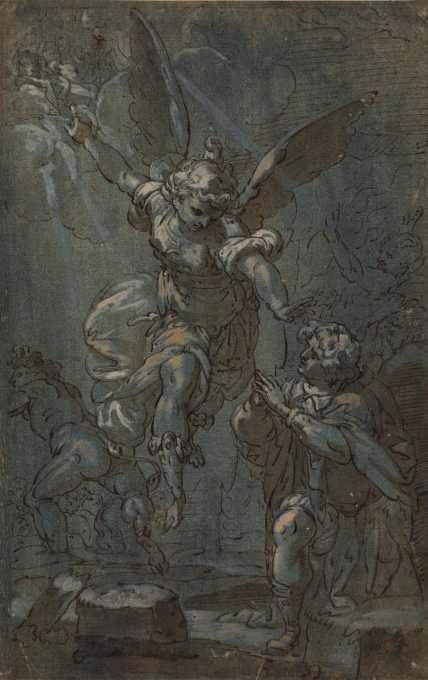 Apparition To A Saint by Carlo Cignani (1628-1719, Italy)