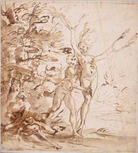 Daphne And Apollo by Carlo Cignani (1628-1719, Italy)