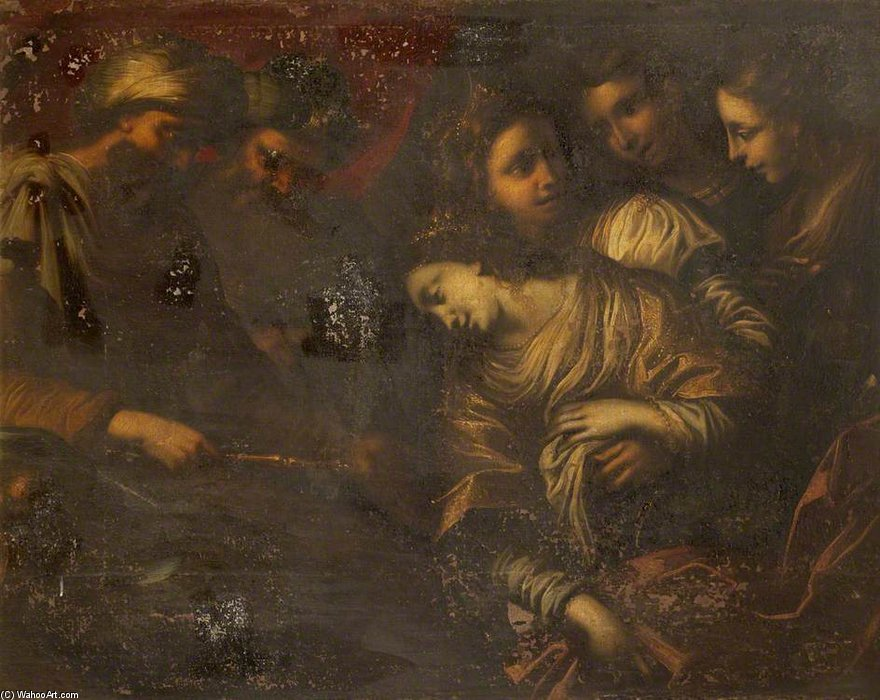 Order Art Reproduction : Esther And Ahasuerus by Carlo Cignani (1628-1719, Italy) | WahooArt.com