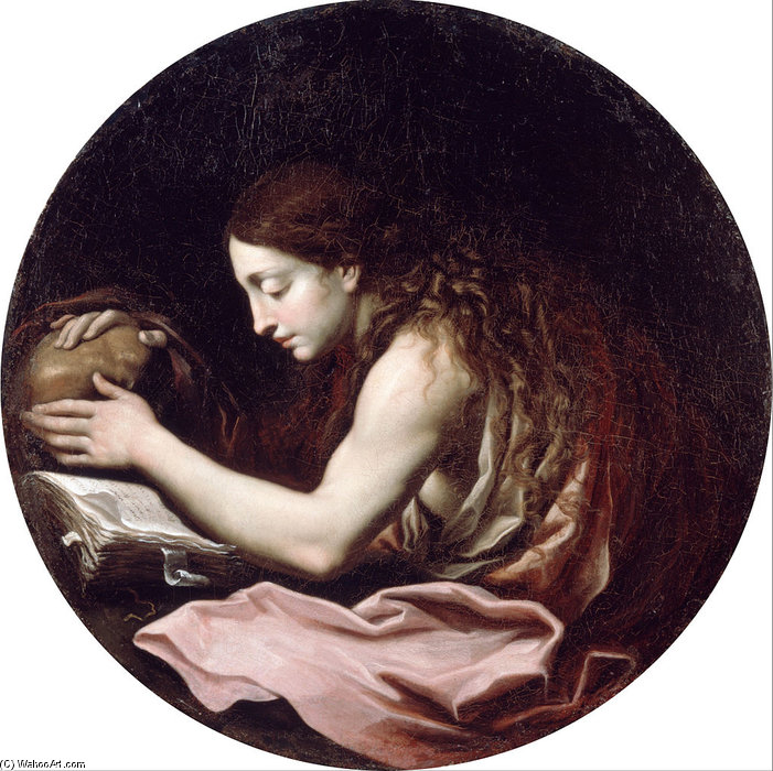 The Penitent Magdalen by Carlo Cignani (1628-1719, Italy)