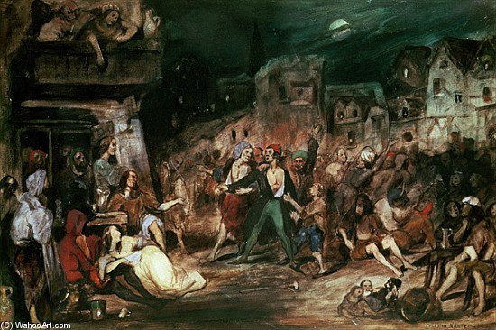 Gringoire In The Court Of Miracles by Celestin Francois Nanteuil (1813-1873, Italy) | Museum Quality Reproductions | WahooArt.com