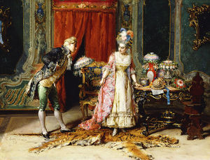 Cesare Augusto Detti - Flowers For Her Ladyship -