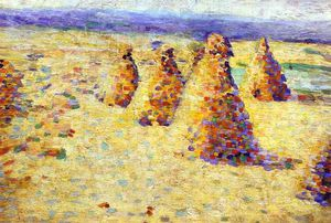 Charles Angrand - Hay Ricks In Normandy