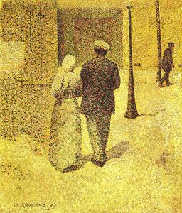 Charles Angrand - Man And Woman In The Street