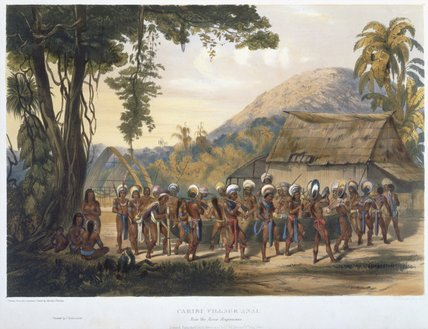 Caribi Village Anai by Charles Bentley (1805-1854, United Kingdom) | Museum Quality Reproductions | WahooArt.com