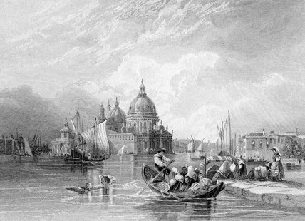 The Grand Canal, Venice by Charles Bentley (1805-1854, United Kingdom)