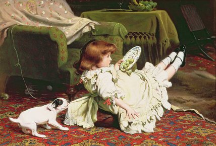 Time To Play by Charles Burton Barber (1845-1894, United Kingdom)