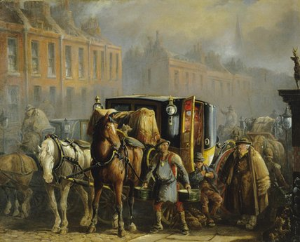 A London Cab by Charles Cooper Henderson (1803-1877, United Kingdom)