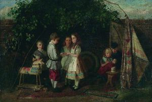 Charles Hunt - Children Playing - The Fortune Teller