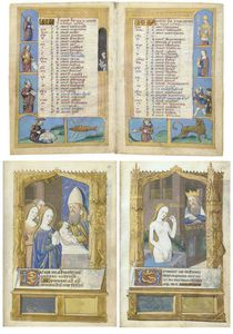 Charles James Adams - Book Of Hours, Use Of Rome, In Latin And French, Illuminated Manuscript On Vellum