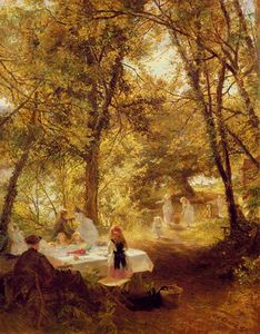 Charles James Lewis - Our Picnic