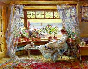 Charles James Lewis - Reading By The Window